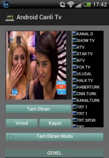 Android Canlı Tv